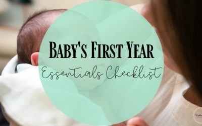 Baby's First-Year Essential products Checklist for new parents