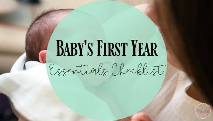 Baby essential product checklist