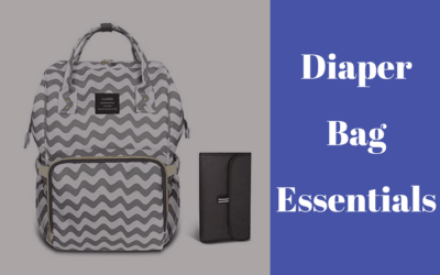Diaper bag essentials for baby and a toddler
