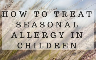 9 Effective ways to treat Seasonal Allergy in children