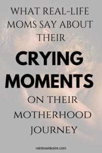 real life moms crying moments