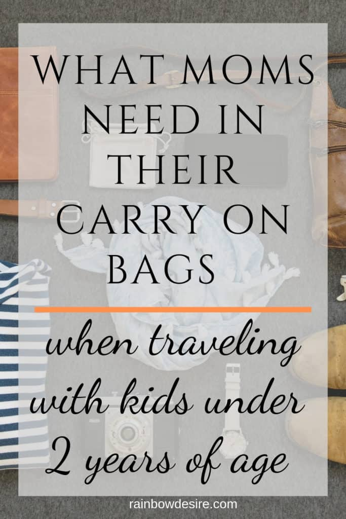 carry on essentials for mom traveling with kids