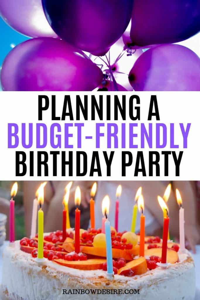 Planning a birthday party on low budget