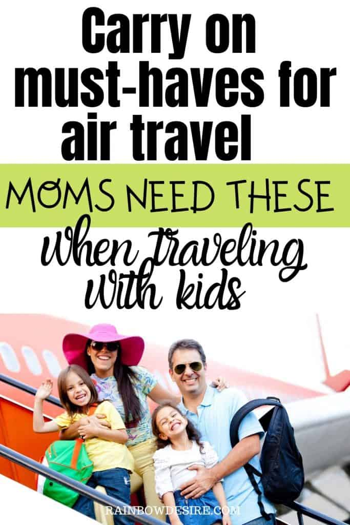 Carry on essentials with kids