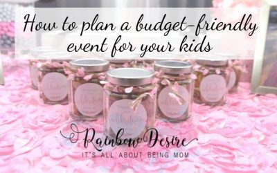 How to plan a budget-friendly birthday party or a kid's event