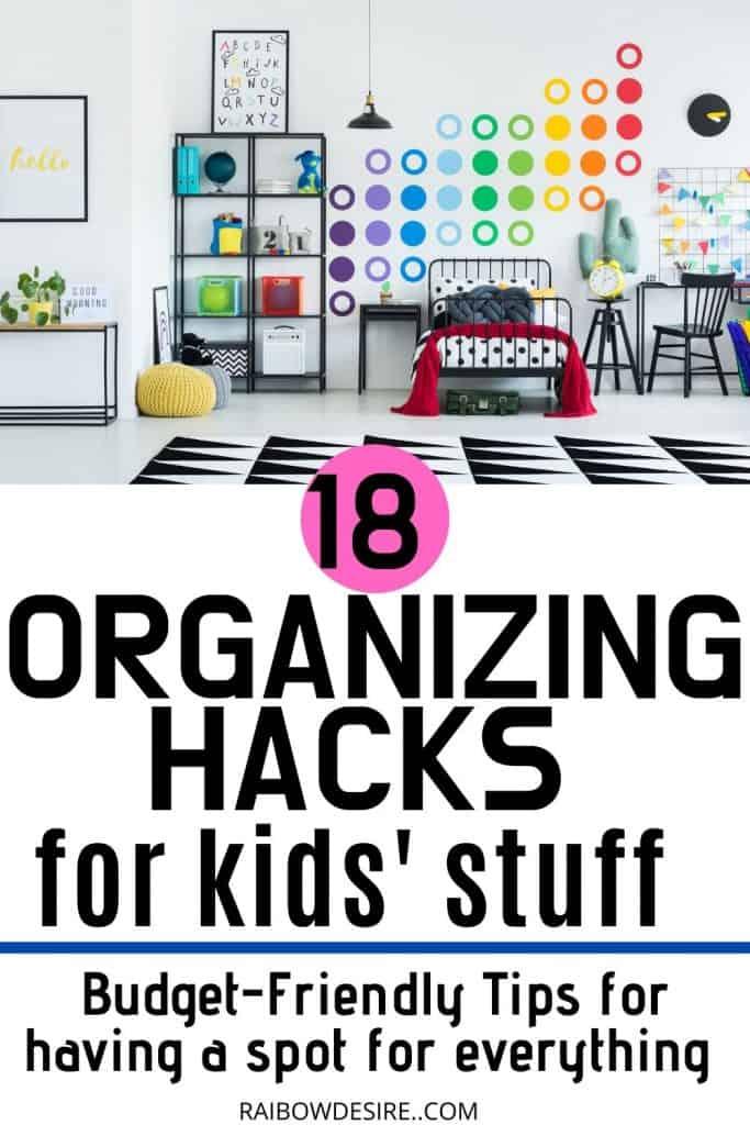 kids stuff organizing hacks