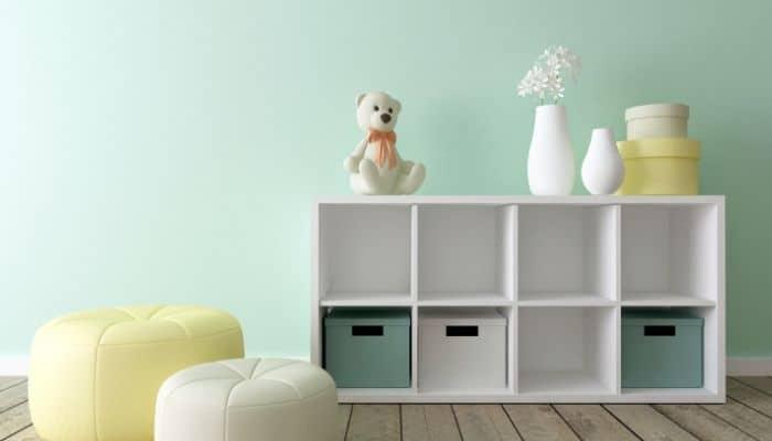 Baby nursery cubby storage