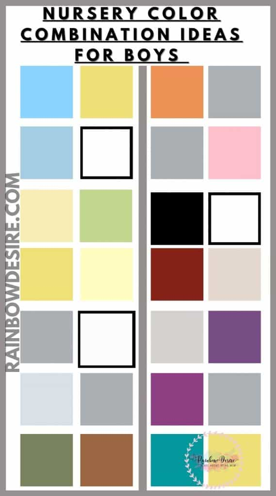 Color combination palettes for boys room